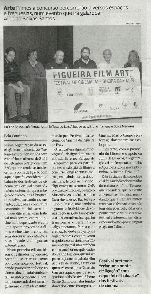 Figueira Film Art no Diário de Coimbra